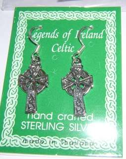 This sale is for a pair of NEW STERLING SILVER CELTIC CROSS EARRINGS.