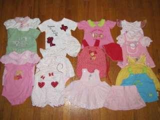 mo month Baby Girls Summer Clothes Lot EUC Dress Top Onesie Skirt