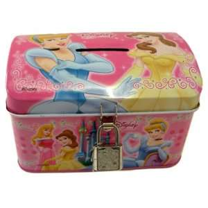 Disney Princess Bank w/ Lock  cinderella Aurora Belle