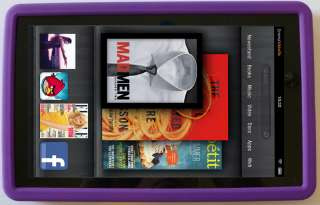 NEW Kindle FIRE PURPLE Silicone Gel Skin Case Cover 3G Wifi   QUICK
