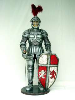LIFE SIZE STATUE Knight n Armor Medieval