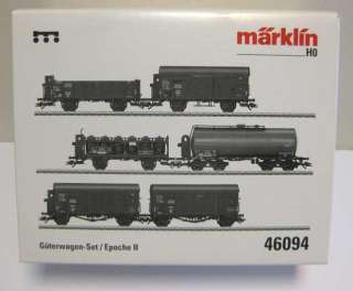 46094 MARKLIN HO Set wit 6 different freight cars   NEW
