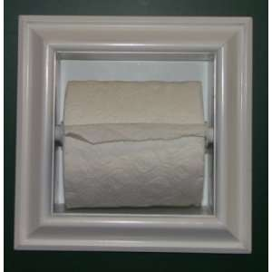 the wall Bathroom Toilet Paper Holder, inset in the wall between studs