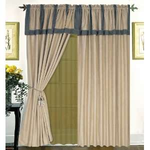 Window Curtain / Drape Set with Valance window Treatment Draperies