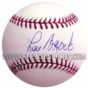 Lou Brock Hand signed Baseball