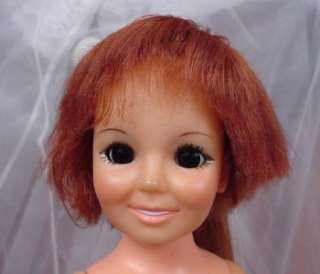 VTG Ideal 1969 Crissy Velvet Doll with growing Red hair