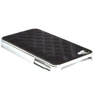 Chrome Case Cover for iPhone 4S 4 4G Black White in Gift Box