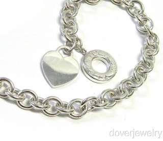 & Co. Sterling Silver Heart Charm Chain Link Necklace NR
