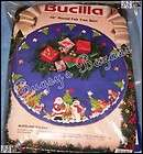 42 Bucilla WOODLAND HOLIDAYS Felt Christmas Tree Skirt Kit Santa