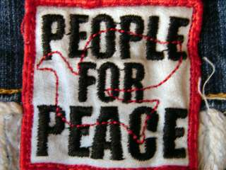 People for Peace Embroidered Love Butterfly Low Rise Jeans 30 x 33