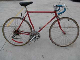 bent tube Road Bicycle Vintage Bike red GT500 derailleurs
