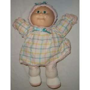 Cabbage Patch Kids Baby with Green Eyes and Pink Bonnet