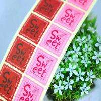 120pcs Sweet2 square Sticker Packing Materials