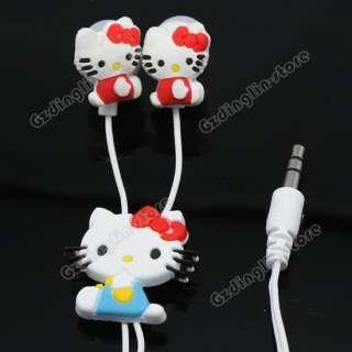 Hello Kitty Lady Headphones Earphone Earbuds Headset 3.5mm In Ear