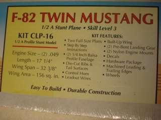 BRODAK * F 82 TWIN MUSTANG* R/C PROFILE MODEL AIRPLANE KIT