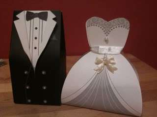 120 Bride & Groom Tuxedo Wedding Favor Boxes ~Quality~