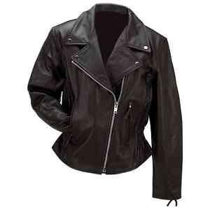 Buffalo Leather Ladies Motorcycle Biker Jacket GFLMJPK