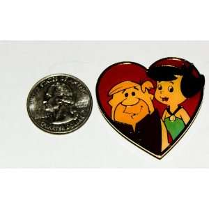 Hanna Barbera the Flintstones Vintage Enamel Magnet  Barney & Betty