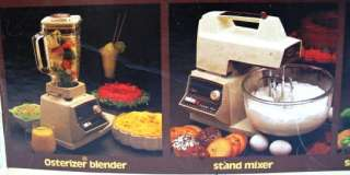 NIB Vintage OSTER Regency 12 Speed Kitchen Center Blender Mixer Food