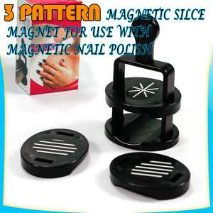 New 3pcs Diff Effect Style Magnetic Slice for Magnetic Nail Art Polish
