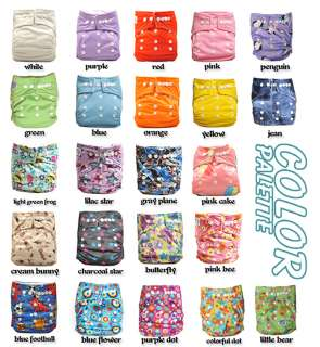 25 Snap AIO Baby Cloth Diapers nappies + 25 Inserts