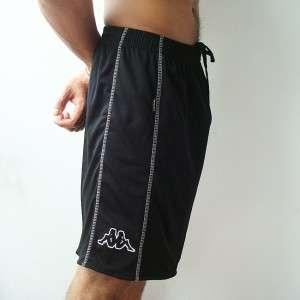 NWT KAPPA Mens Football Soccer Jersey Shorts Black M L