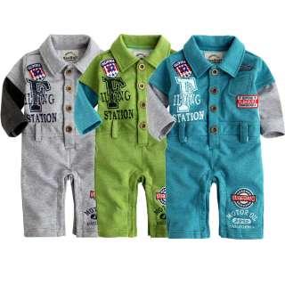 NWT Newborn Baby Boys Jumpsuit Bodysuit Onepiece Outwear  Collar