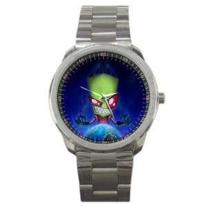 INVADER Zim Gir Piggy TV Stainless Steel Watch Gift