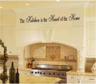 Kitchen Heart Home Vinyl Wall Art Word Art Lettering