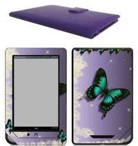 Nook Tablet / Nook Color Leather Case Cover Jacket +Skin Accessories