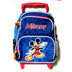 Disney Mickey Mouse kid size Rolling backpack  school bag