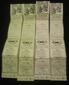 Vintage KNOTTS BERRY FARM GHOST TOWN & CALICO RAILWAY TICKETS Knotts