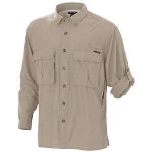 ExOfficio Mens Air Strip Lite Long Sleeve Shirt Bone (L