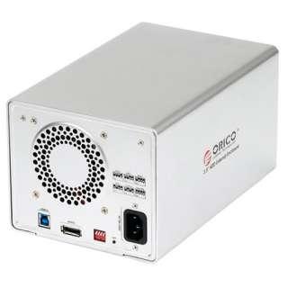 Bay 3.5 Aluminum SATA HDD Hard Drive Enclosure (USB3.0 + eSATA
