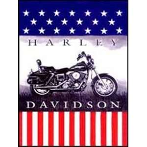Official Harley Davidson American Pride Super Plush Throw