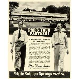 : 1941 Ad Greenbrier Resort Hotel White Sulphur Springs West Virginia