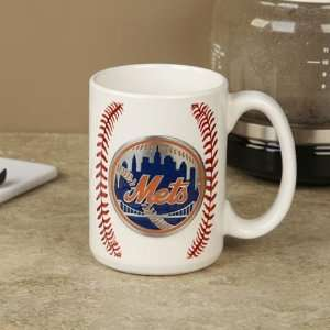 MLB New York Mets Pewter Logo Baseball Coffee Mug Sports