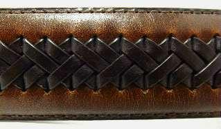 42 Columbia Reversible Mens Belt Brown Genuine Leather Black Trim