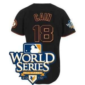 baseball jerseys san francisco giants 18 cain matt black