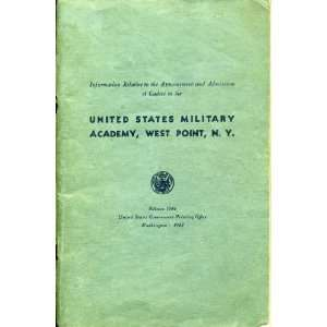 Cadets to the U.s. Military Academy, West Point War Department Books