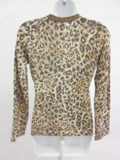 CHARLOTTE TARANTOLA Animal Print Cardigan Sweater M