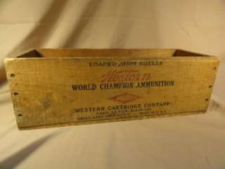 Vintage Western Cartridge Company Wooden Ammo Box 410 ga.