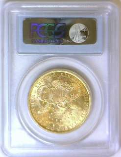 1885 S $20 Gold Double Eagle PCGS MS 61 Better Date