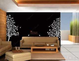 Twin Tree(83inch tall)   Vinyl Wall art decals graphic for home decor