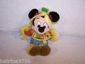 Disney 9 Mickey Mouse scarecrow plush doll toy