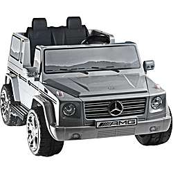 Two seater Silver 12V Mercedes Benz G55 AMG Ride on