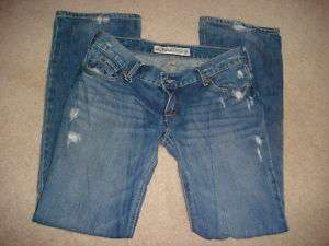 HOLLISTER jr girls blue denim jeans Venice Boot SZ 3S