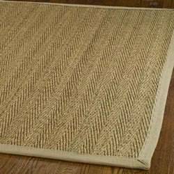woven Diamonds Natural/ Beige Seagrass Rug (8 x 10)  Overstock