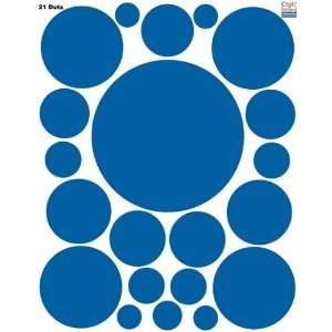 Wall Decal Dots (21) Blue Polka Dot Wall Sticker Appliques