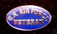 Patriotic Tie Hat Lapel Pin U.S. Air Force Veteran #R9F